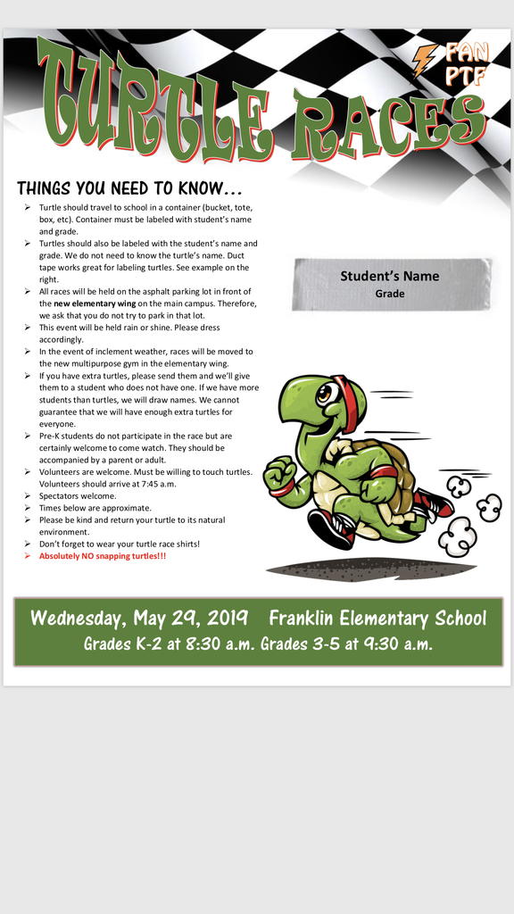 Check out this information to be prepared for Wednesday.