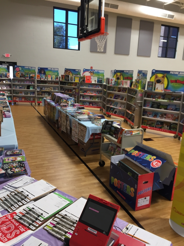 Book fair in the Elementary gym.